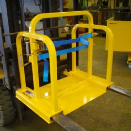 Liftable Forklift Gas Cylinder Handler