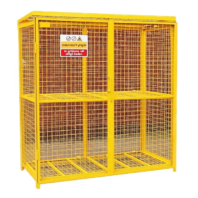 Folding Gas Cylinder Cage